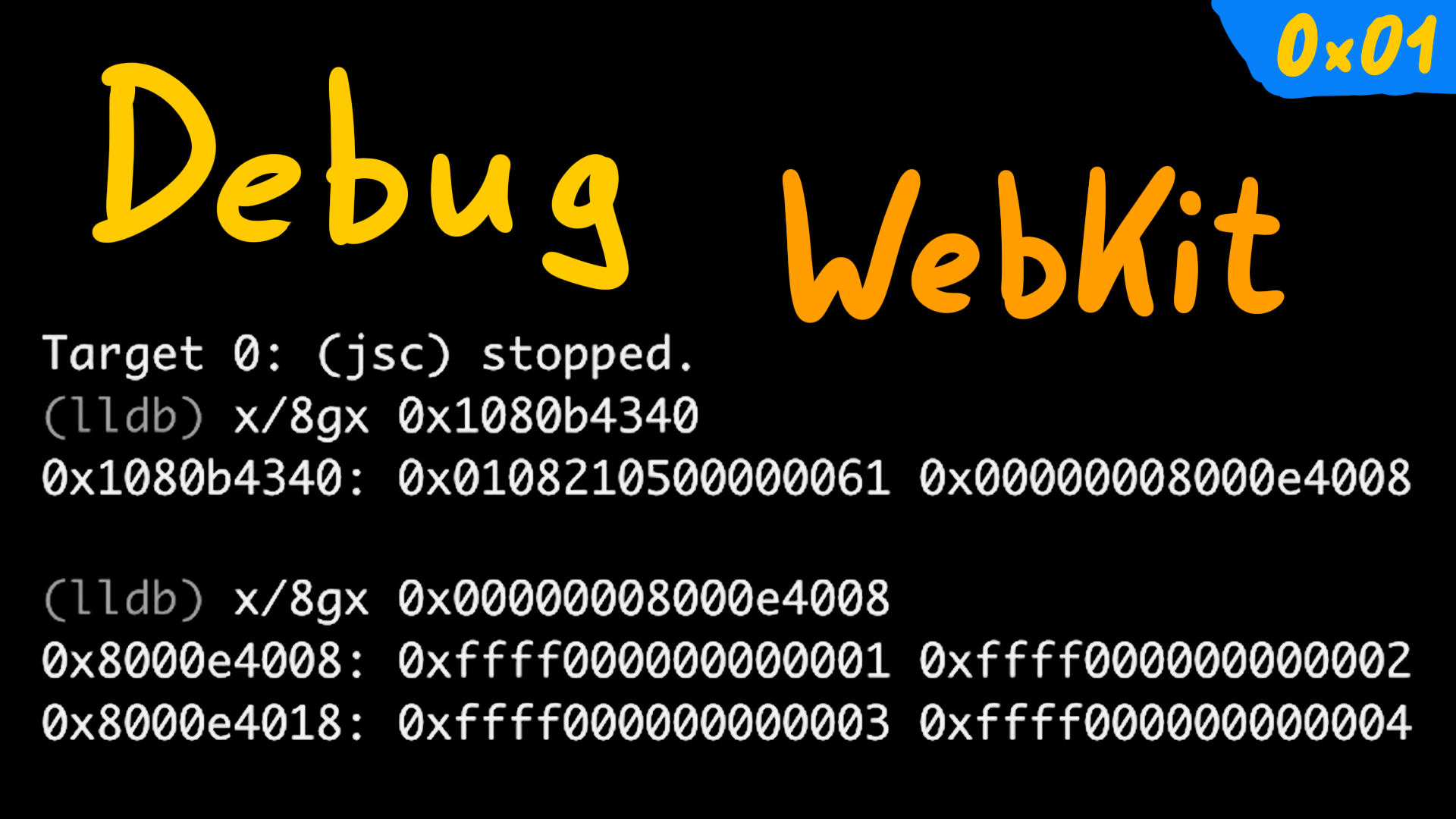 Setup and Debug JavaScriptCore / WebKit - browser 0x01