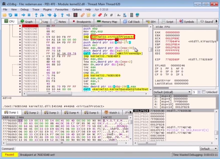Unpacking Redaman Malware & Basics of Self-Injection Packers - ft